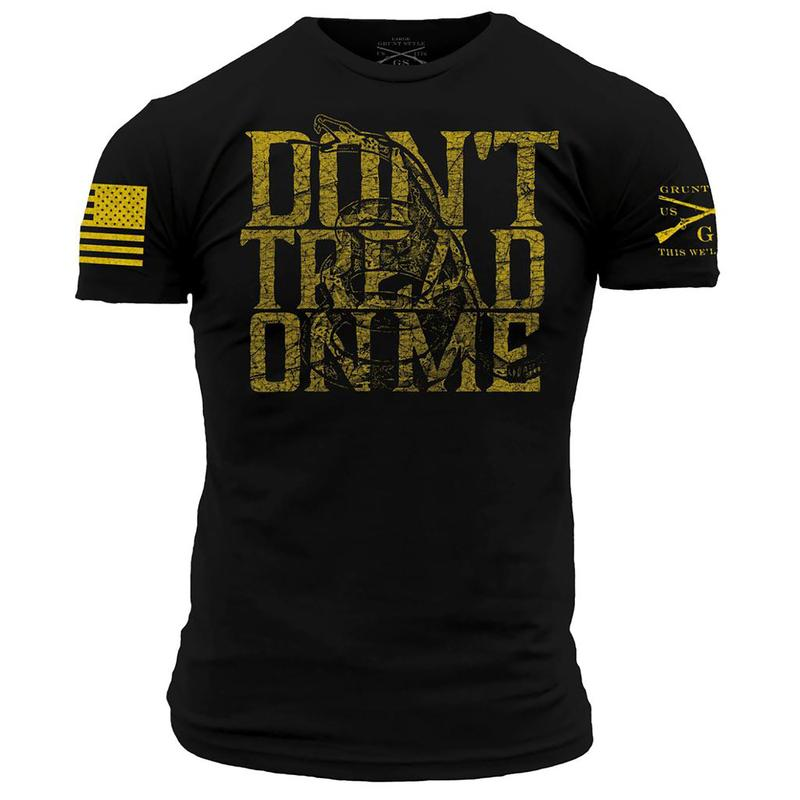 'Grunt Style' Men's Don't Tread On Me 2.0 Tee - Black