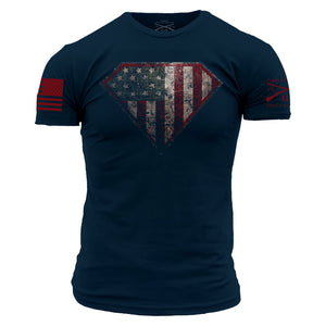 'Grunt Style' Men's Super Patriot 2.0 Tee - Blue