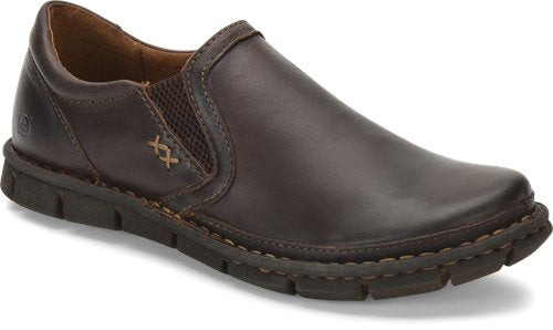 'Born' H16283 - Men's Sawyer Slip On - Dark Brown