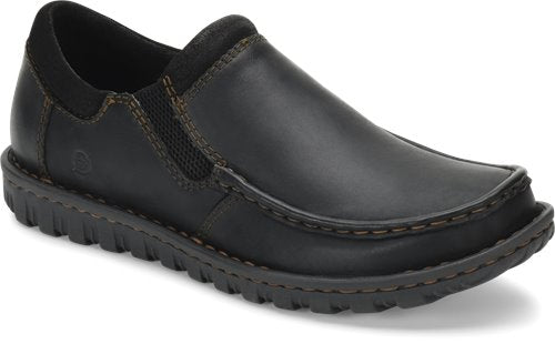'Born' Men's Gudmund Leather Slip On - Black