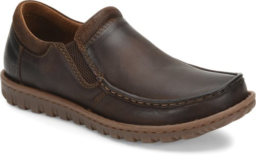 'Born' Men's Gudmund Leather Slip On - Dk. Brown