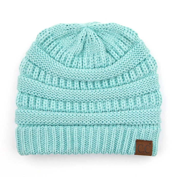 'C.C®' Solid Knit Beanie - Mint