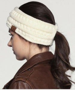 'C.C®' Solid Ribbed Headband - Ivory