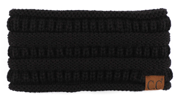 'C.C®' Solid Ribbed Headband - Black