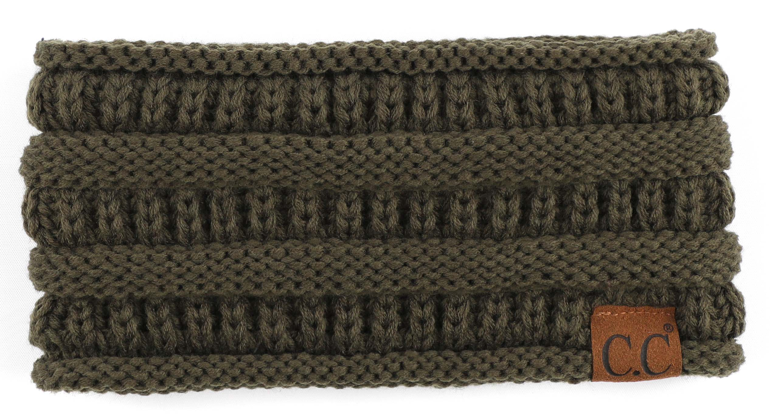 'C.C®' Solid Ribbed Headband - Olive