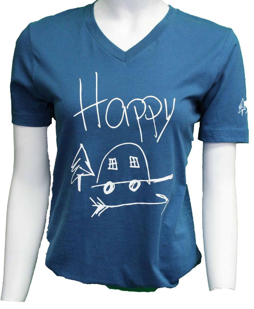 'ScratchPad Tees' Women's Happy Camp SD Tee - Deep Teal