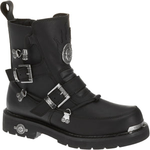 "'Harley Davidson' D94167 - Men's 6"" Distortion Skull Zip Boot - Black"