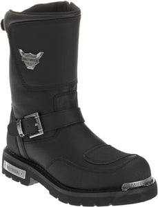 "'Harley Davidson' D95115 - Men's 11"" Engineer Shift - Black"