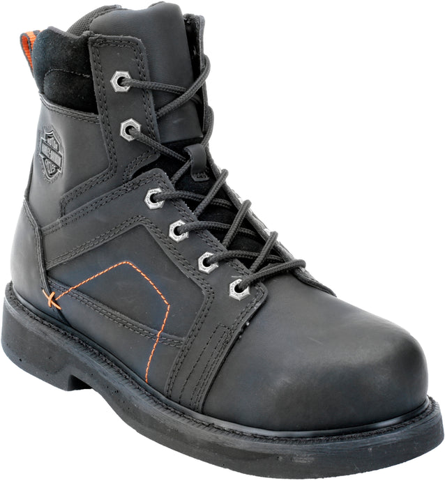 'Harley Davidson' D95326 - Men's Pete Side Zip Steel Toe - Black
