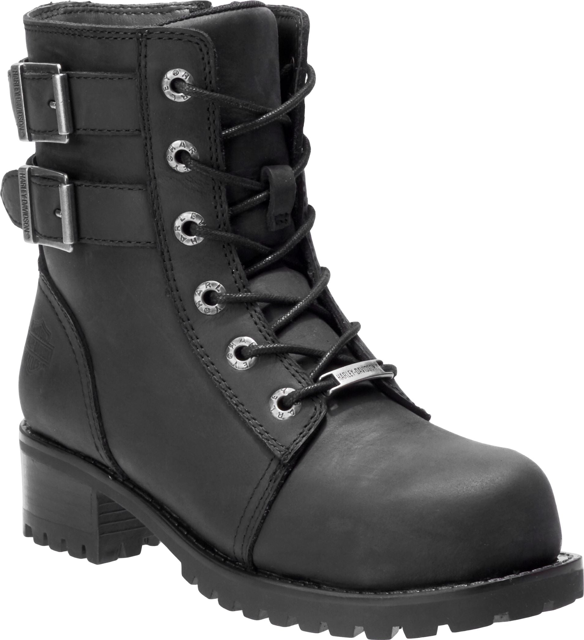 'Harley Davidson' Women's Archer Steel Toe Boot - Black