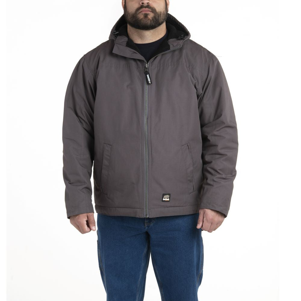 'Berne' Men's Torque Ripstop Hooded Jacket - Slate