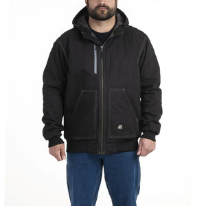 'Berne' Men's Modern Hooded Jacket - Black