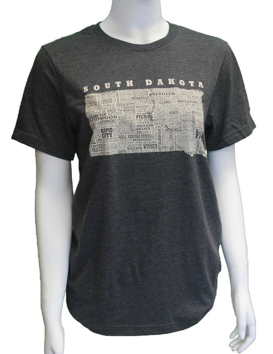 'ScratchPad Tees' Unisex Hometown SD Tee - Dark Grey Heather