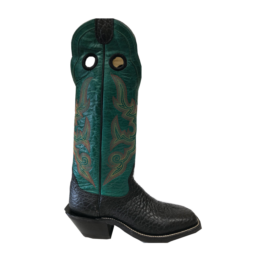 Bull Hide Buckaroo - Black / Green