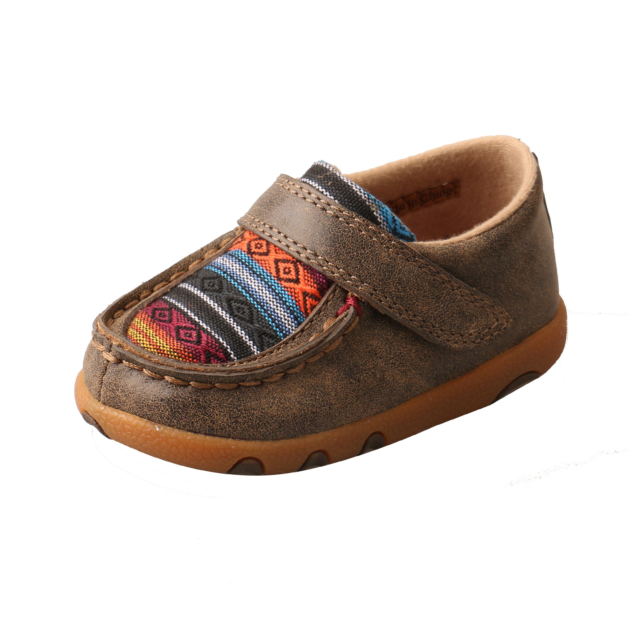 Infant Driving Moccasin - Bomber / Multi Serape