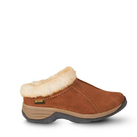 'Old Friend Footwear' 441192 - Women's Snowbird II Clog Slipper - Chestnut