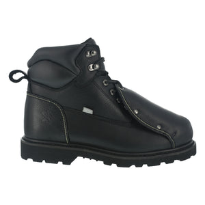 "'Iron Age' Men's 6"" Ground Breaker External Met Guard - Black"