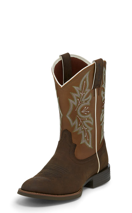 'Justin' Men's Buster Bronze - Bronze Wheat / Rough Brown