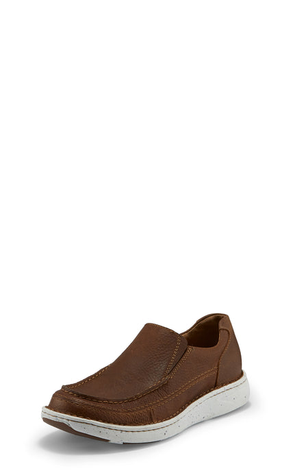 'Justin' Men's Looper Slip On - Sorrel / Chestnut