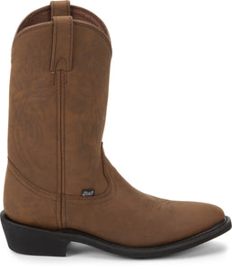 "'Justin' Men's 12"" Butch Farm & Ranch Western Round Toe - Tan"