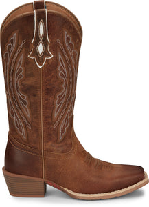 "'Justin' Women's 12"" Rein Square Toe - Waxy Tan"