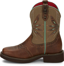 "'Justin' Women's 8"" Gypsy™ Nettie Square Toe - Brown / Olive"