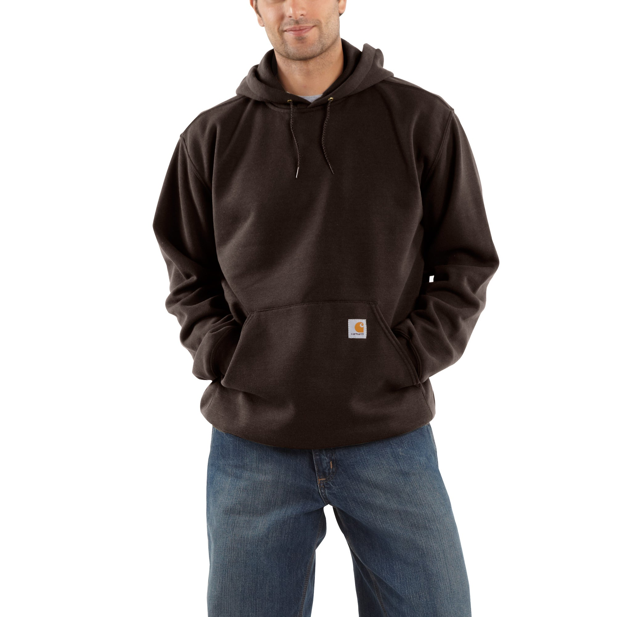 'Carhartt' Men's Midweight Pullover Hoodie - Dark Brown