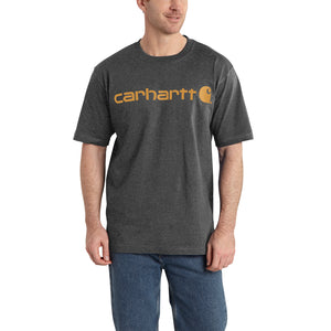 'Carhartt' Men's Heavyweight Logo T-Shirt - Carbon Heather