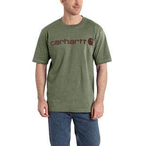 'Carhartt' Men's Heavyweight Logo T-Shirt - Botanic Green