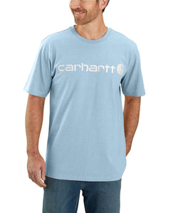 'Carhartt' Men's Heavyweight Logo T-Shirt - Tourmaline Heather