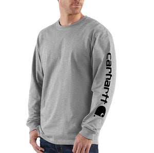 'Carhartt' Men's Heavyweight Sleeve Logo T-Shirt - Heather Grey