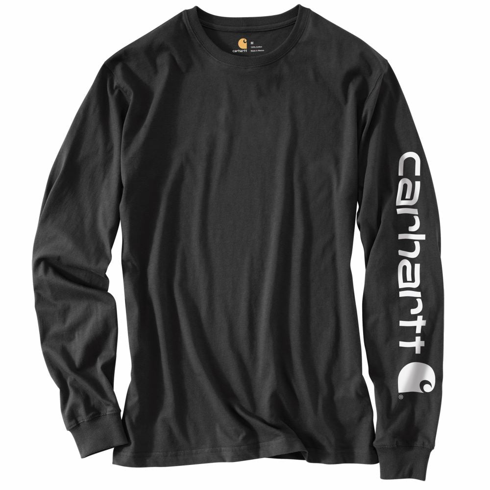 'Carhartt' Men's Heavyweight Sleeve Logo T-Shirt - Black