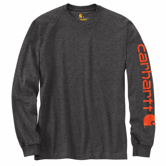 'Carhartt' Men's Heavyweight Sleeve Logo T-Shirt - Carbon Heather