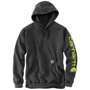 'Carhartt' Men's Midweight Logo Hoodie - Carbon Heather