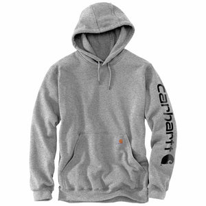 'Carhartt' Men's Midweight Logo Hoodie - Heather Grey / Black