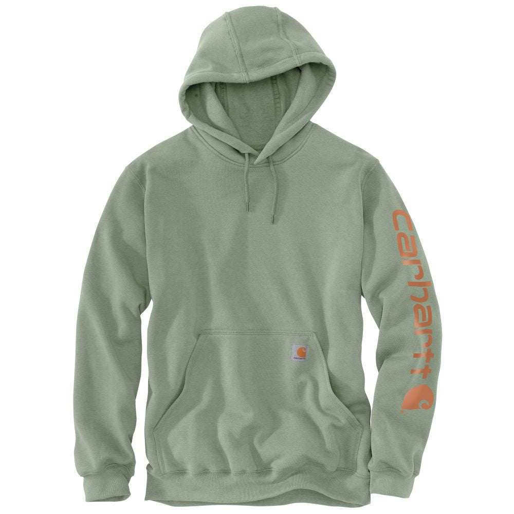 'Carhartt' Men's Midweight Logo Hoodie - Leaf Green Heather
