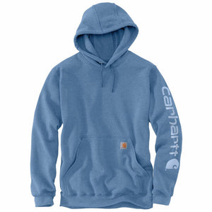 'Carhartt' Men's Midweight Logo Hoodie - Coastal Heather