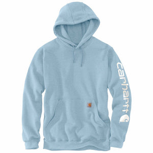 'Carhartt' Men's Midweight Logo Hoodie - Tourmaline Heather