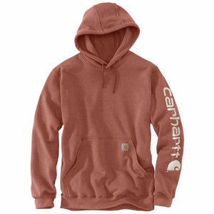 'Carhartt' Men's Midweight Logo Hoodie - Auburn Heather