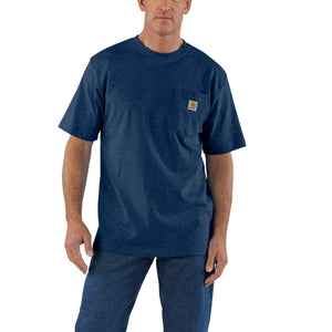 'Carhartt' Men's Workwear Heavyweight Pocket T-Shirt - Dark Cobalt Blue Heather