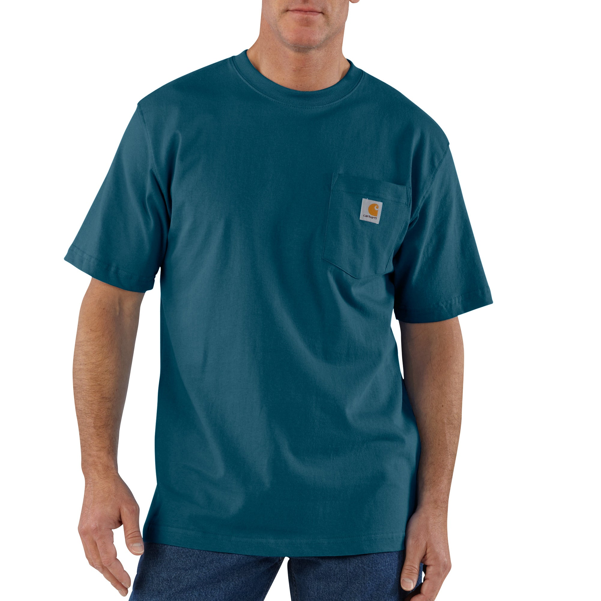 'Carhartt' Men's Workwear Heavyweight Pocket T-Shirt - Stream Blue