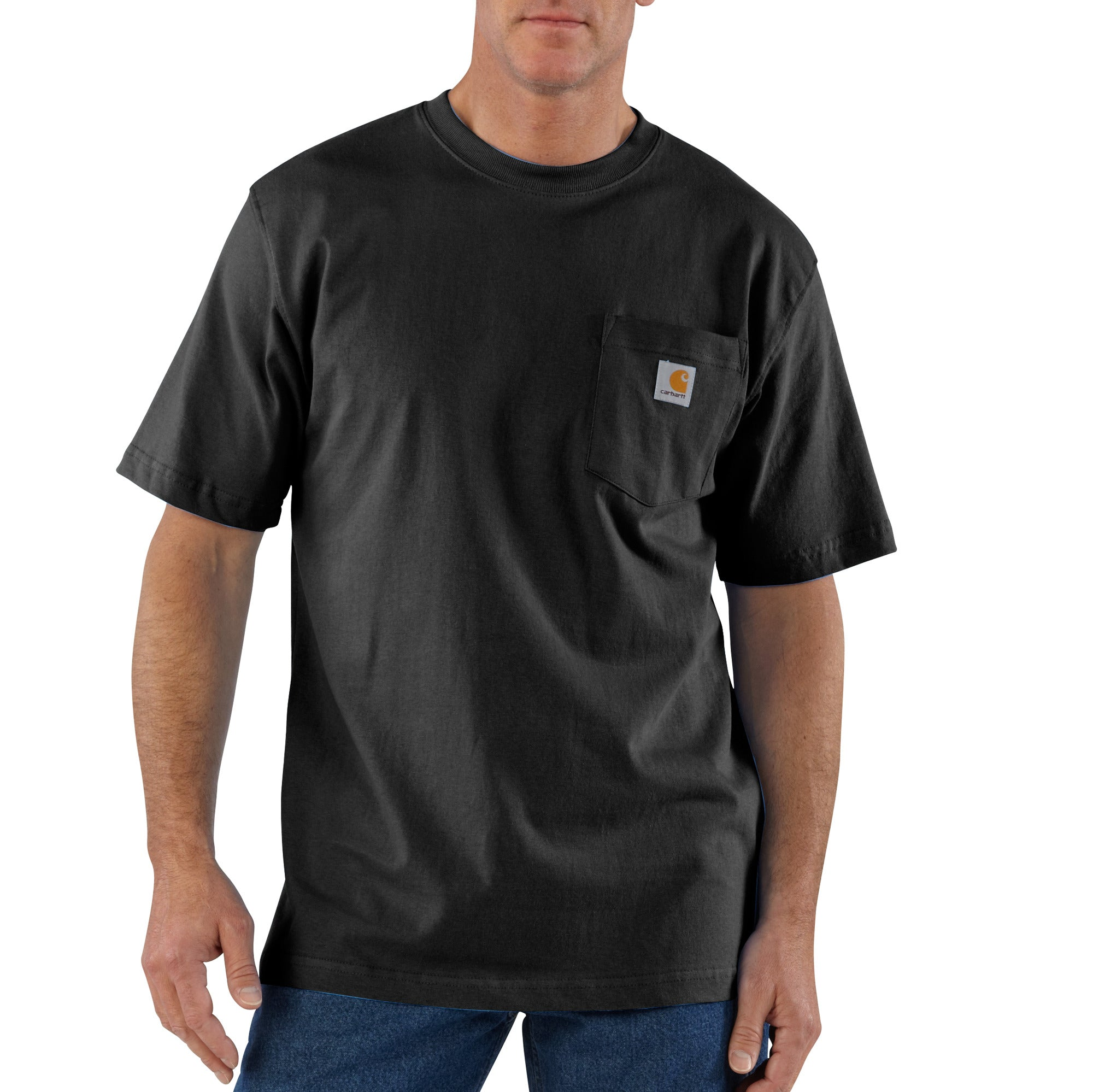 'Carhartt' Men's Workwear Heavyweight Pocket T-Shirt - Black