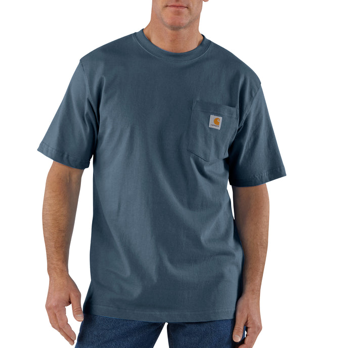 'Carhartt' Men's Workwear Heavyweight Pocket T-Shirt  - Bluestone
