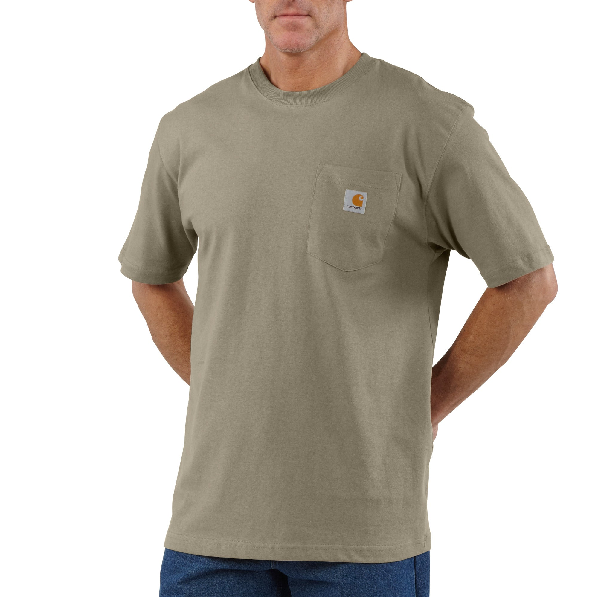 'Carhartt' Men's Workwear Heavyweight Pocket T-Shirt - Desert