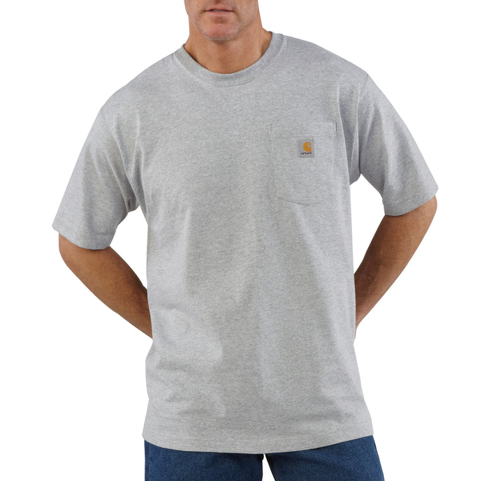 'Carhartt' Men's Workwear Heavyweight Pocket T-Shirt - Heather Gray