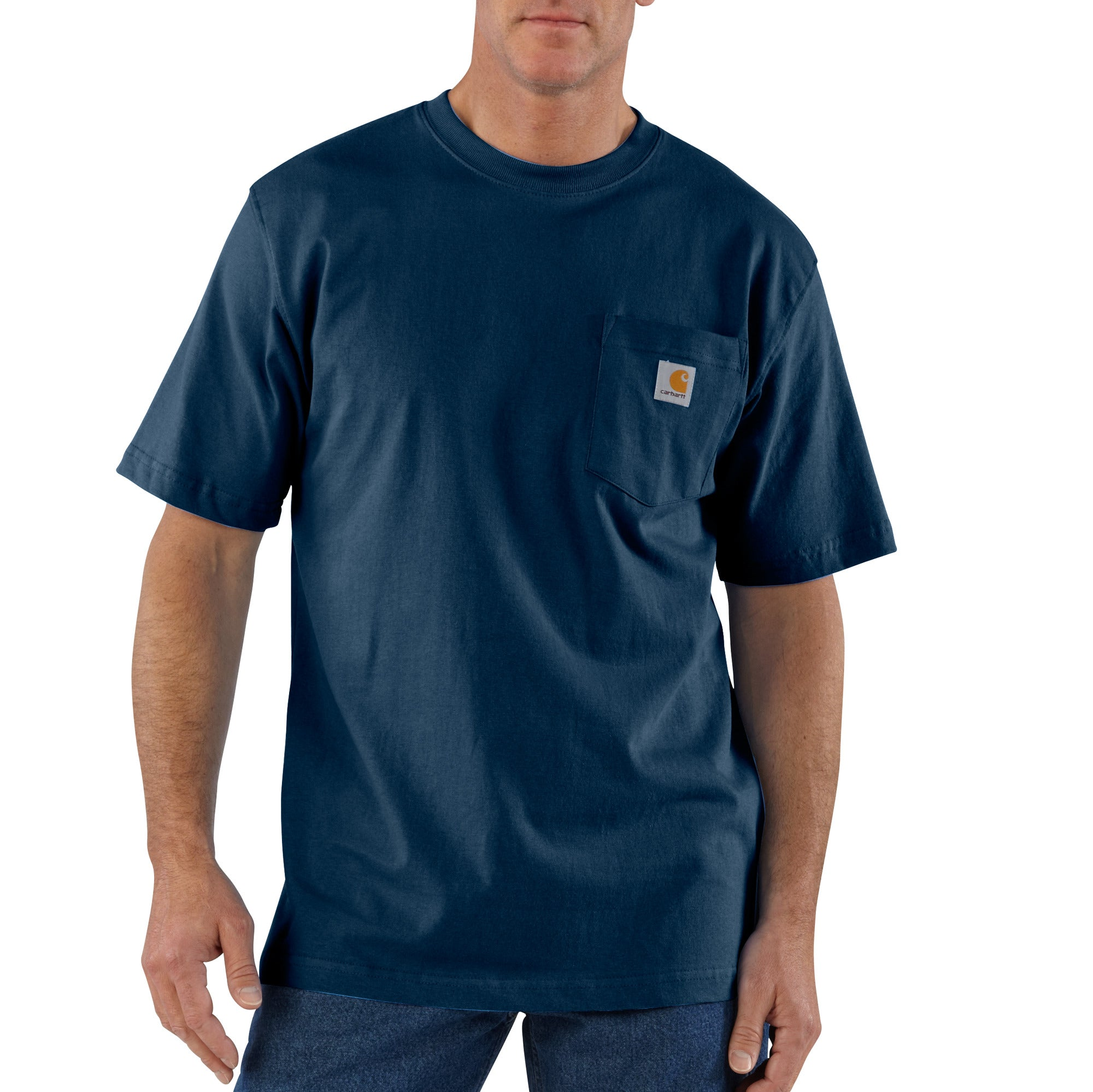 'Carhartt' Men's Workwear Heavyweight Pocket T-Shirt - Navy
