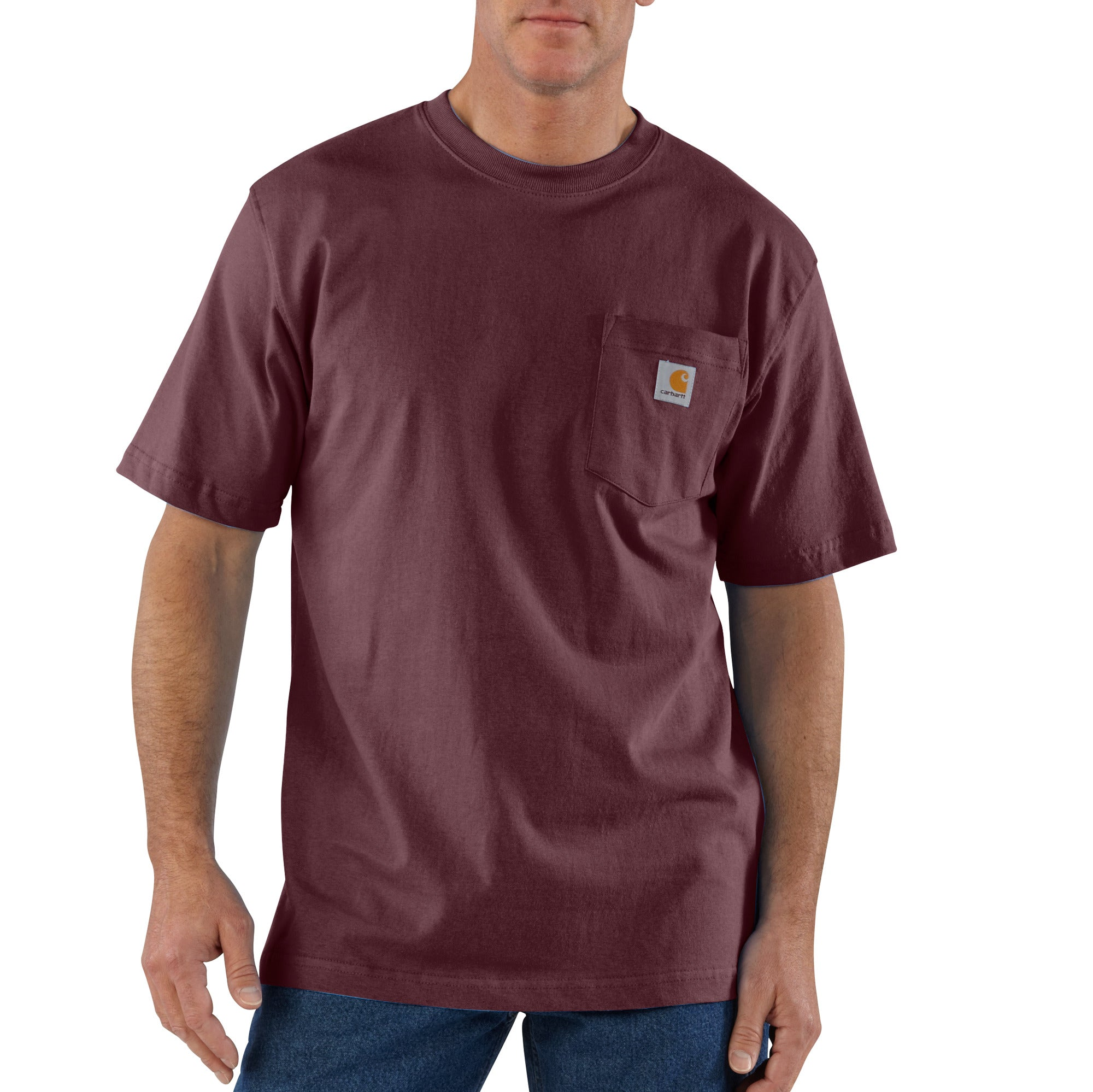 'Carhartt' Men's Workwear Heavyweight Pocket T-Shirt - Port