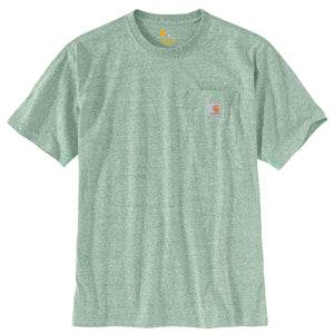 'Carhartt' Men's Workwear Heavyweight Pocket T-Shirt - Musk Green Snow Heather