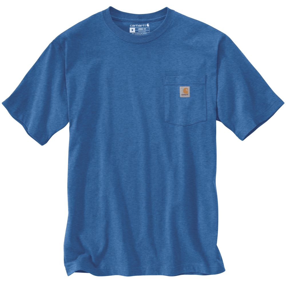 'Carhartt' Men's Workwear Pocket Tee - Light Cobalt Heather