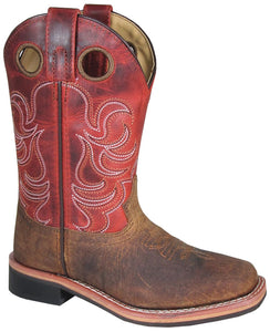 'Smoky Mountain' Children's Jesse Western Square Toe - Brown / Burnt Apple